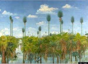 Artists impression of a 300-million-year-old forest