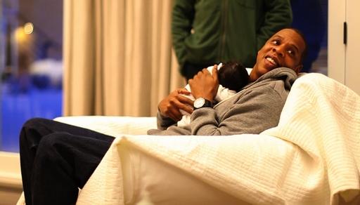 Jay-Z Holding Baby Blue Ivy