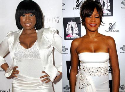 Whitney Houston and Jennifer Hudson