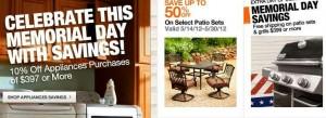 Memorial Day Sales 2012 Big Savings