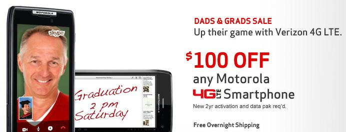 Verizon Wireless Fathers Day Sales