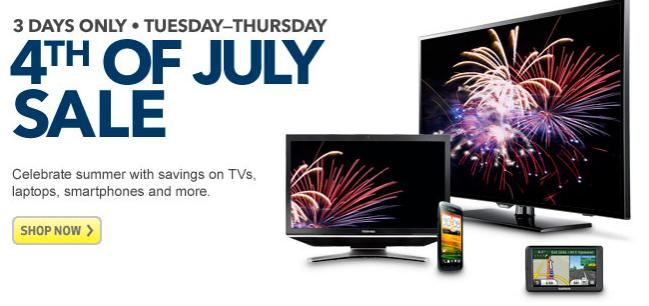 One excellent example is Best Buy's giant 4 th of July sale with deals on televisions, phones and all sorts of other electronic goodies starting as of July 4 th. The Best Buy sales event will.