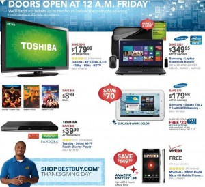 Best Buy Black Friday Sale 2012