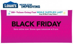 Lowe's Black Friday values