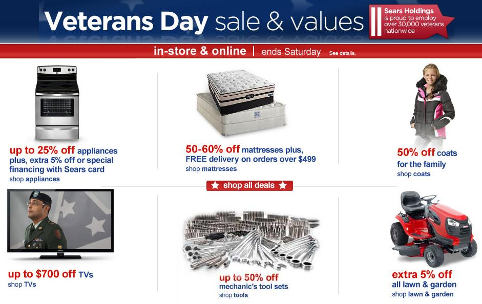 Sears Veterans Day Sales 2012