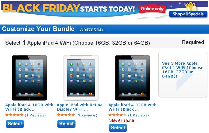 Walmart black friday ads 2012: Walmart iPad and other Tablet deals
