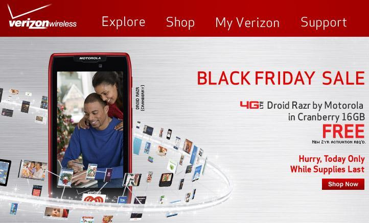 verizon black friday 2012 sale