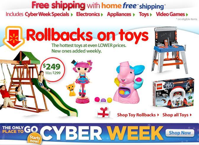 Walmart Cyber Monday deals 2012