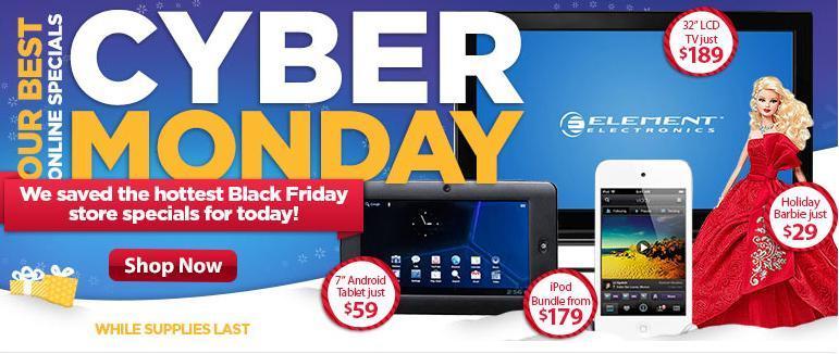Cyber Monday Deals 2012