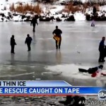 Dramatic Ice Rescue Goes Terribly Wrong Caught on Tape