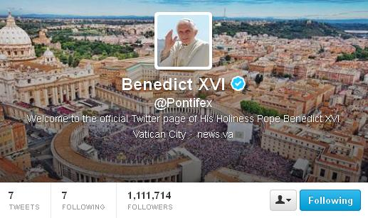Pope First tweet