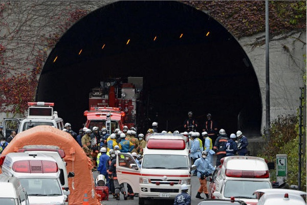 Tunnel Collapse in Japan
