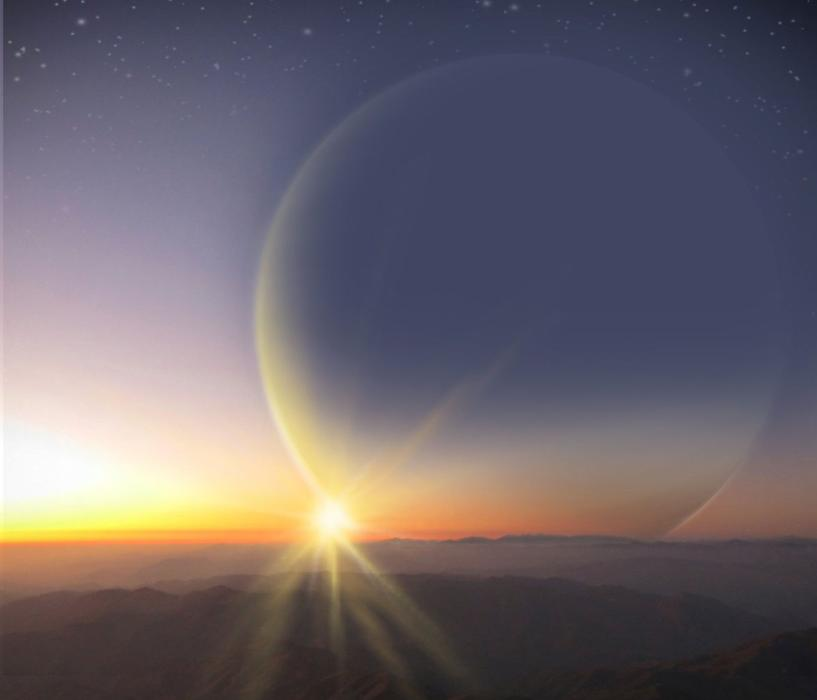 Planet PH2 b, the habitable moon