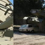 Arnold Schwarzenegger drives M47 Patton tank and Smashes Mercedes Image Credit: Collider.com