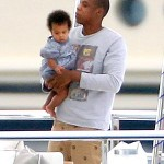 Jay-Z and baby Blue Ivy Carter photo on Yacht Image Credit: People