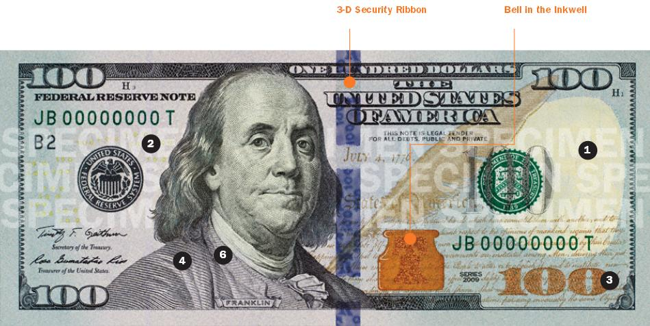 New 100 Dollar Bill: $100 Public Security Interactive Guide