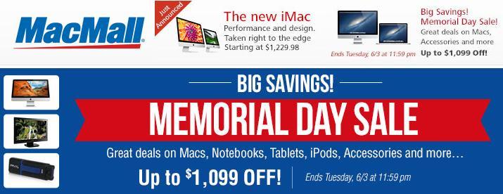 MacMall Memorial Day Sales 2013