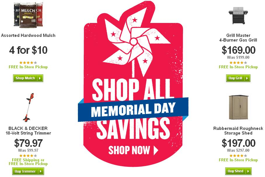 Lowe's Memorial Day Sale