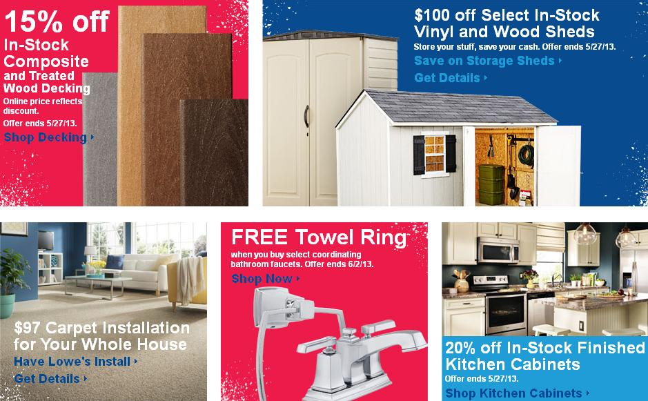 ... Lowe's Memorial Day Sales 2013: Special Values, Military Discounts