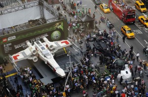 Life-sized Star Wars 23-ton X-Wing Fighter LEGO made. Image Credit: Reuters/Shannon Stapleton