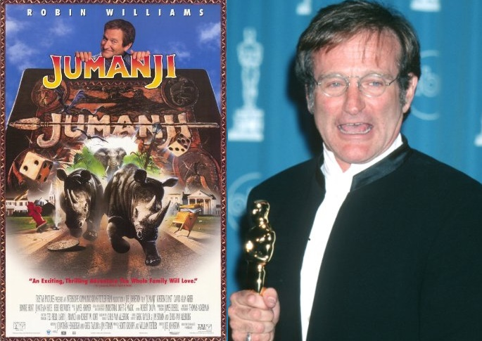 Robin Williams Movies, Jumanji, Hook, Happy Feet, Robin Williams top movies, academy award winner, Robin Williams