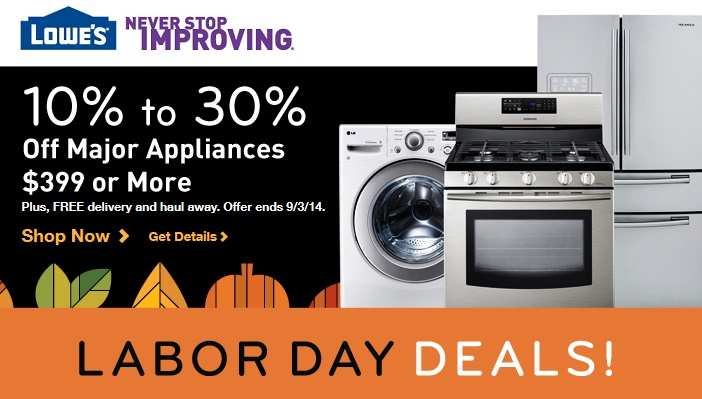 Lowe, Lowe's Appliances, Lowes, Lowes Appliances, Lowes Appliances Savings, Lowes Labor Day Sale, Lowes Labor Day Sale 2014, Labor Day Sale 2014