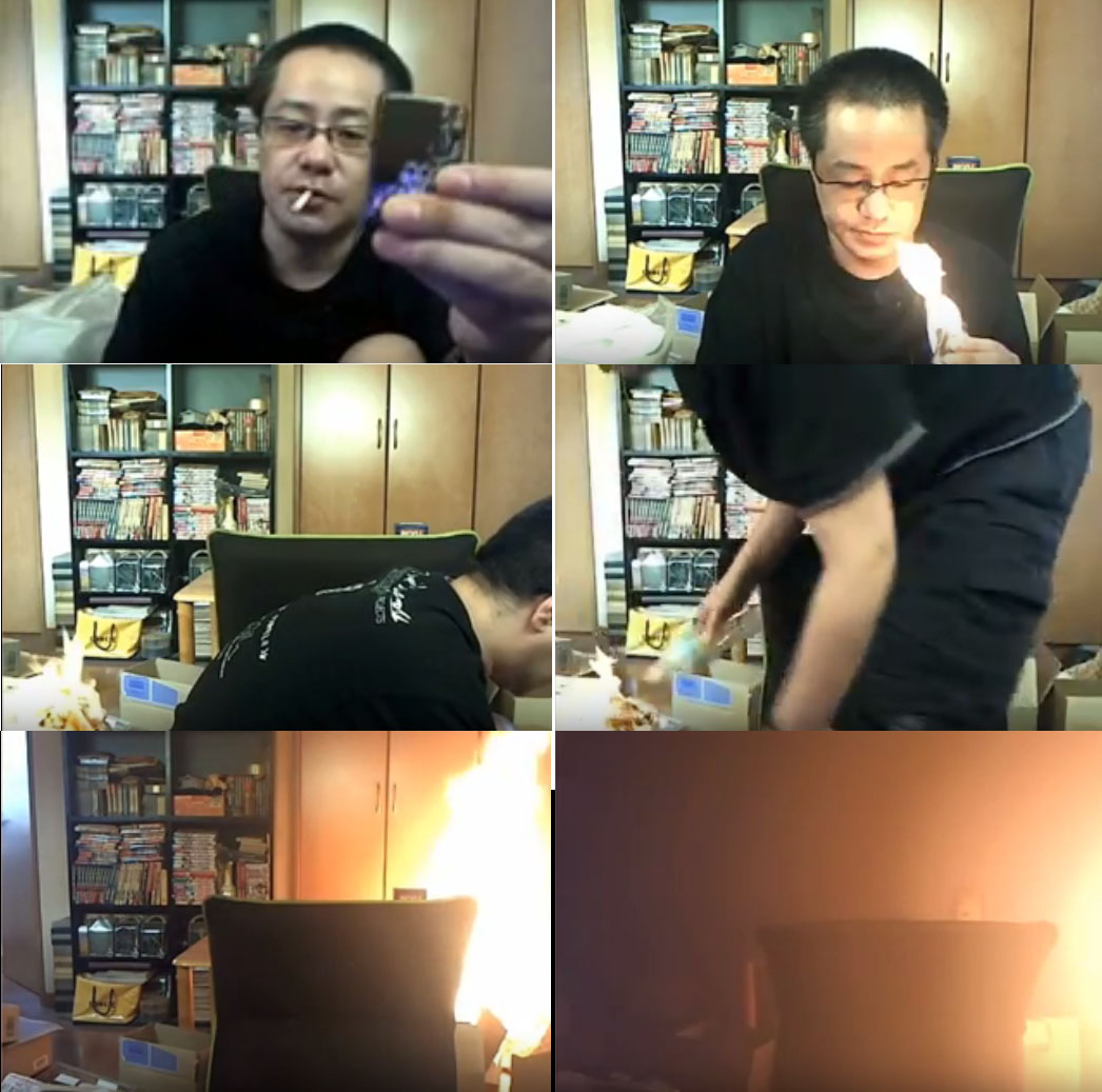 Japanese man, Japanese live streamer, japanese man burns house, japanese man burns apartment, japanese burns house