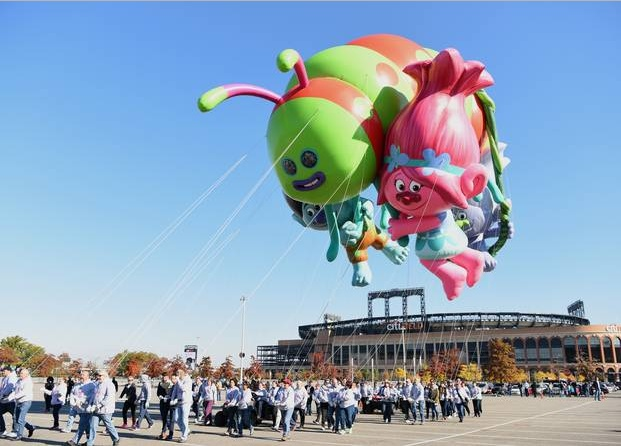 Macy's Thanksgiving Day Parade 2016 Route Guide. Trolls Balloon. Image Credit: Dave Kotinsky/Getty Images